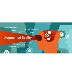 AR augmented reality concept had vector image vector image