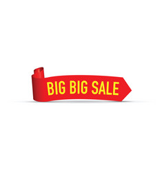 big big red sale sign vector image vector image
