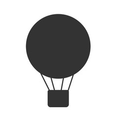 black and white air balloon or airship icon vector image