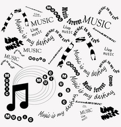 Black and white poster music vector