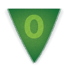 Bunting flag number 0 vector