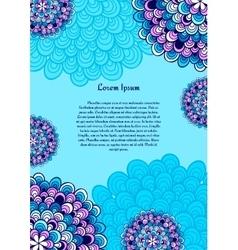 Card or invitation Vintage decorative elements vector image