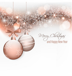 christmas and new year wishes with hanging vector image vector image
