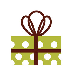 christmas gift box wrappied ribbon celebration vector image