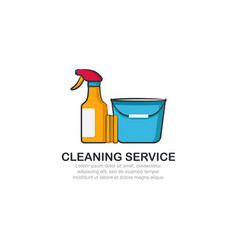cleaning service logo template vector image vector image