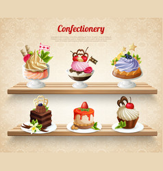 Confectionery colorful vector