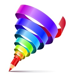 creative art pencil design vector image vector image
