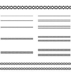 Divider line set vector