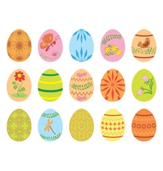 Easter eggs with ornament vector image vector image