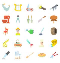 foreman icons set cartoon style vector image