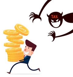 haunted by taxes vector image