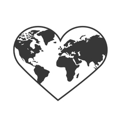 Heart shape icon Planet design graphic vector image vector image