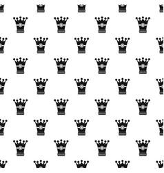 Medieval crown pattern vector
