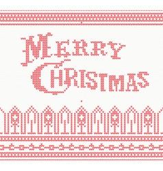 Merry Christmas Scandinavian text vector image