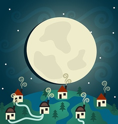 Night Village vector image