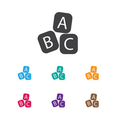 Of child symbol on abc bloks vector