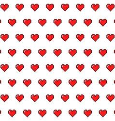 Pixel Hearts vector image