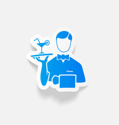 realistic design element waiter vector image vector image