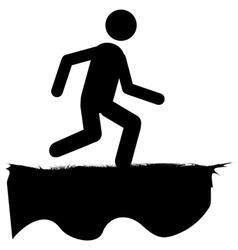 Running human icon vector