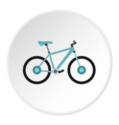 Sport bicycle icon circle vector