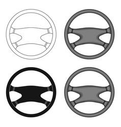 steering wheelcar single icon in cartoon style vector image