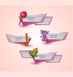 sweet banners set vector image