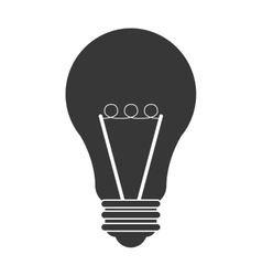 Regular lightbulb icon vector
