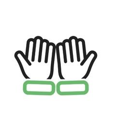 Praying hands vector