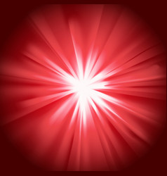 Glowing light red burst vector