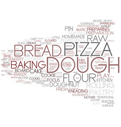 Dough word cloud concept vector