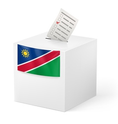 Ballot box with voting paper namibia vector