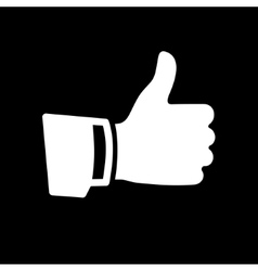 White thumb up icon vector