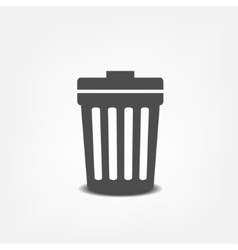 Trash can flat icon vector