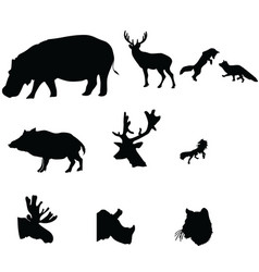 silhouette icon animal on white white backgro vector image