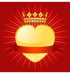 Valentine crown and banner vector