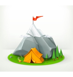 A journey to the mountains vector