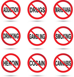 No drugs smoking and alcohol sign vector