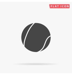 Tennis ball simple flat icon vector