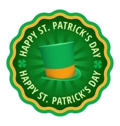 Happy Saint Patricks day greeting card label vector image