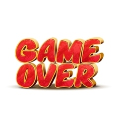 Game over icon for game design interface vector