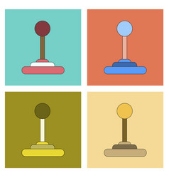 Assembly flat icon game joystick vector