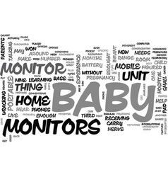 Baby monitor technology text word cloud concept vector
