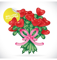 Balloon valentines day vector