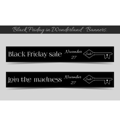 Banners black friday sale in wonderland - the key vector
