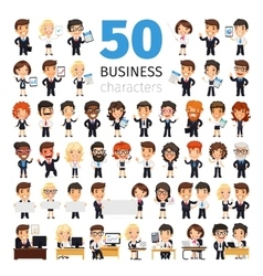 Business people big collection vector