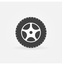 Car wheel icon or logo vector