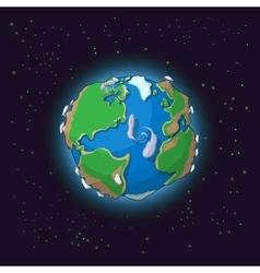 Cartoon earth concept vector