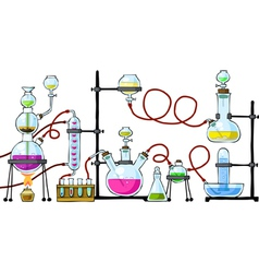 chemical laboratory vector image vector image