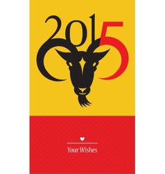 Chinese New Year of the Goat 2015 vector image vector image