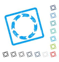 Circulation icon rubber watermark vector
